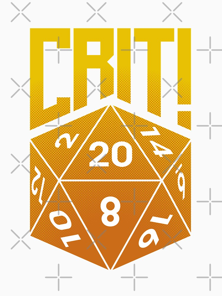 Crit Success - Yellow by jklettdesigns