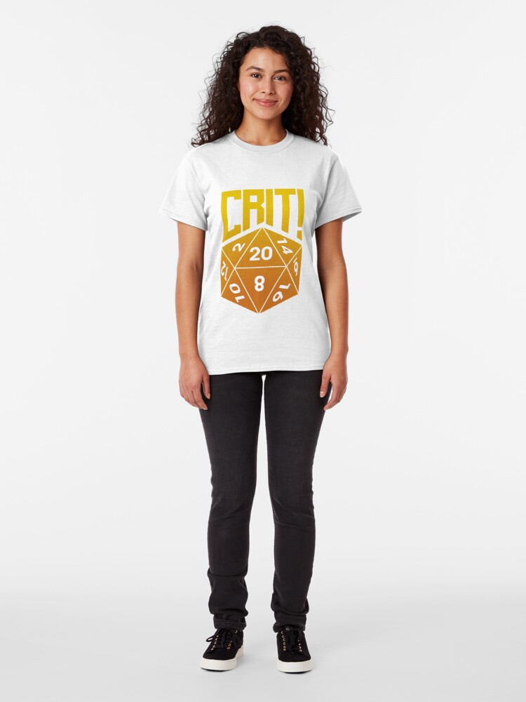 Alternate view of Crit Success - Yellow Classic T-Shirt