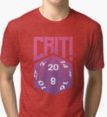 Crit Success - Pink Tri-blend T-Shirt