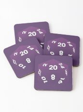 Crit Success - Purple Coasters