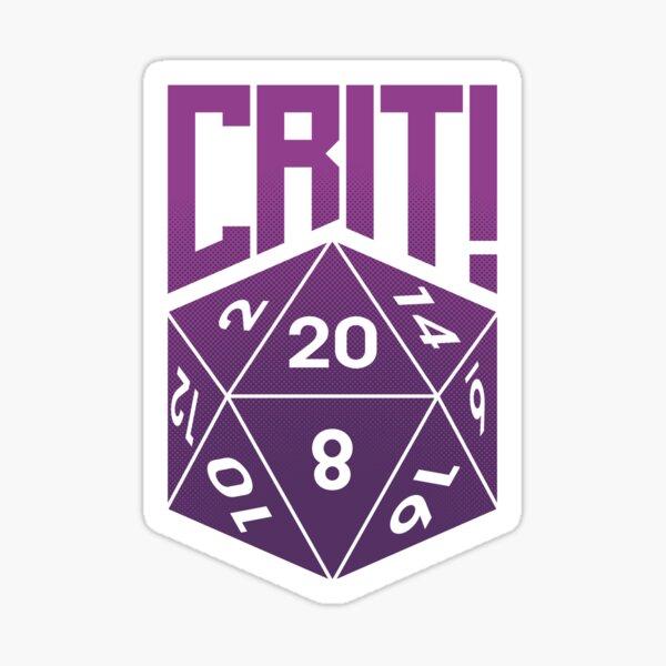 Crit Success - Purple Sticker