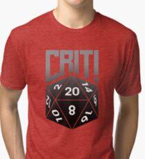 Crit Success - Black Tri-blend T-Shirt