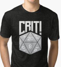 Crit Success - White Tri-blend T-Shirt