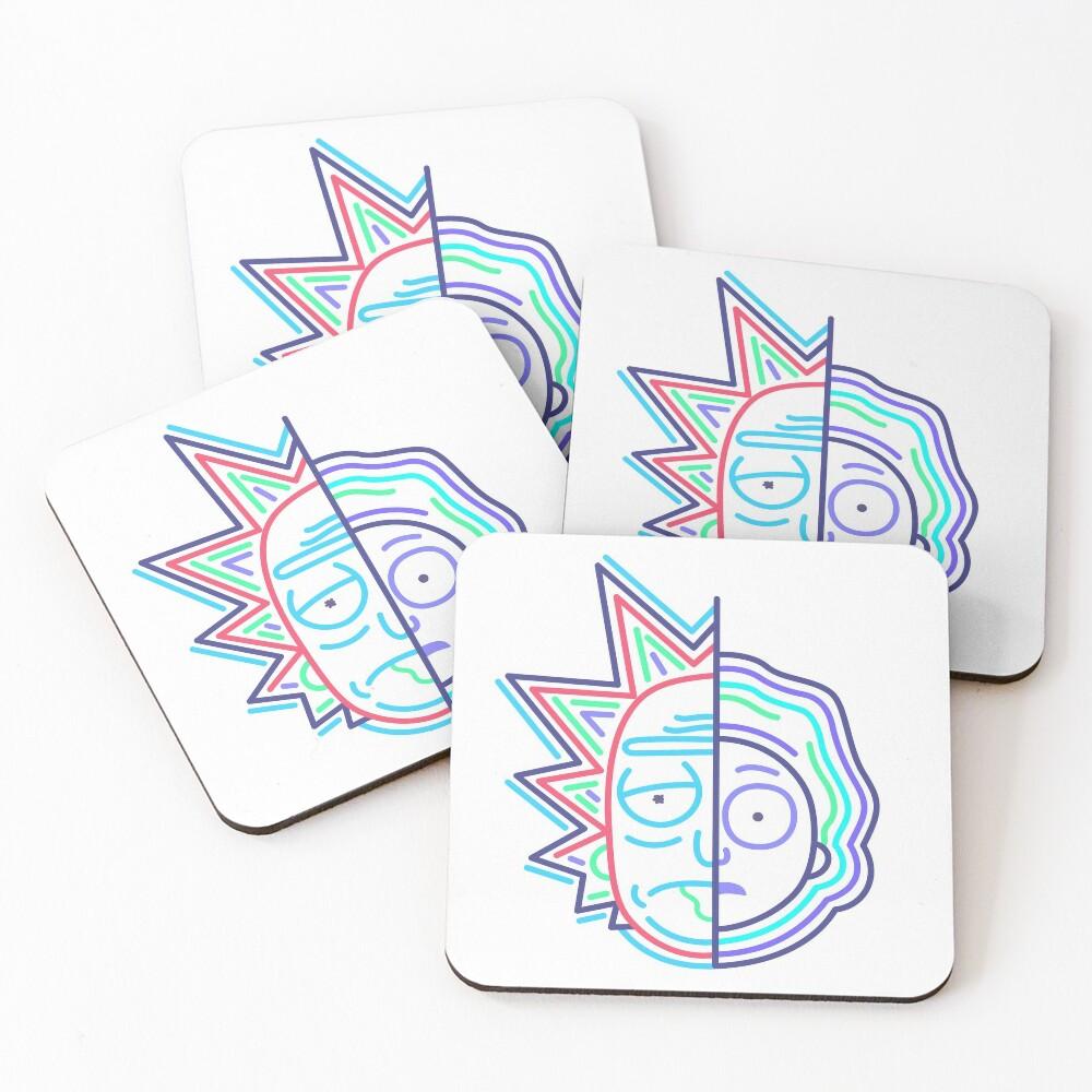 Abstract Rick 2 Coasters (Set of 4)