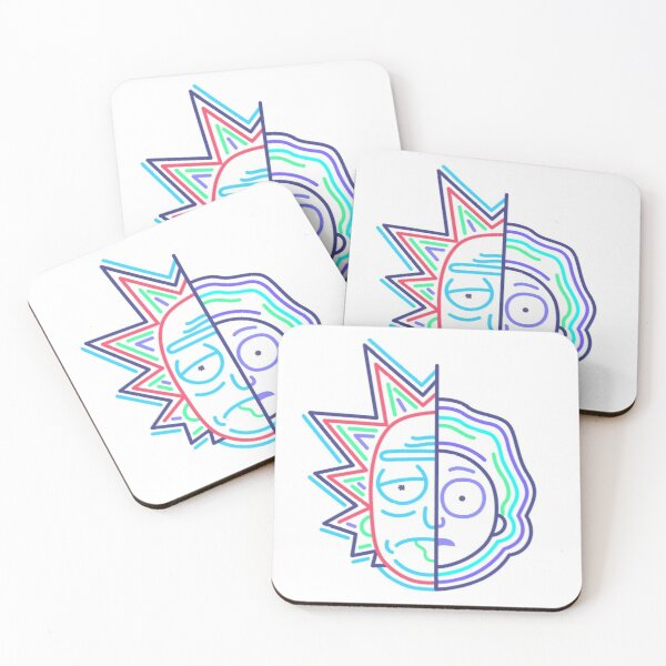 Abstract Rick 2 Coasters (Set of 4)