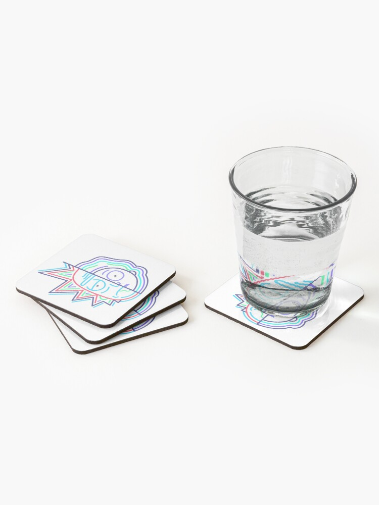 Alternate view of Abstract Rick 2 Coasters (Set of 4)