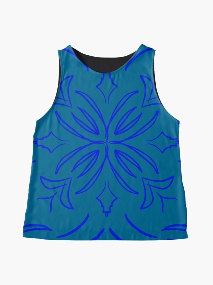 Alternate view of Classic Tile blue Sleeveless Top