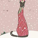 Viola, Art Deco Cat by sneercampaign