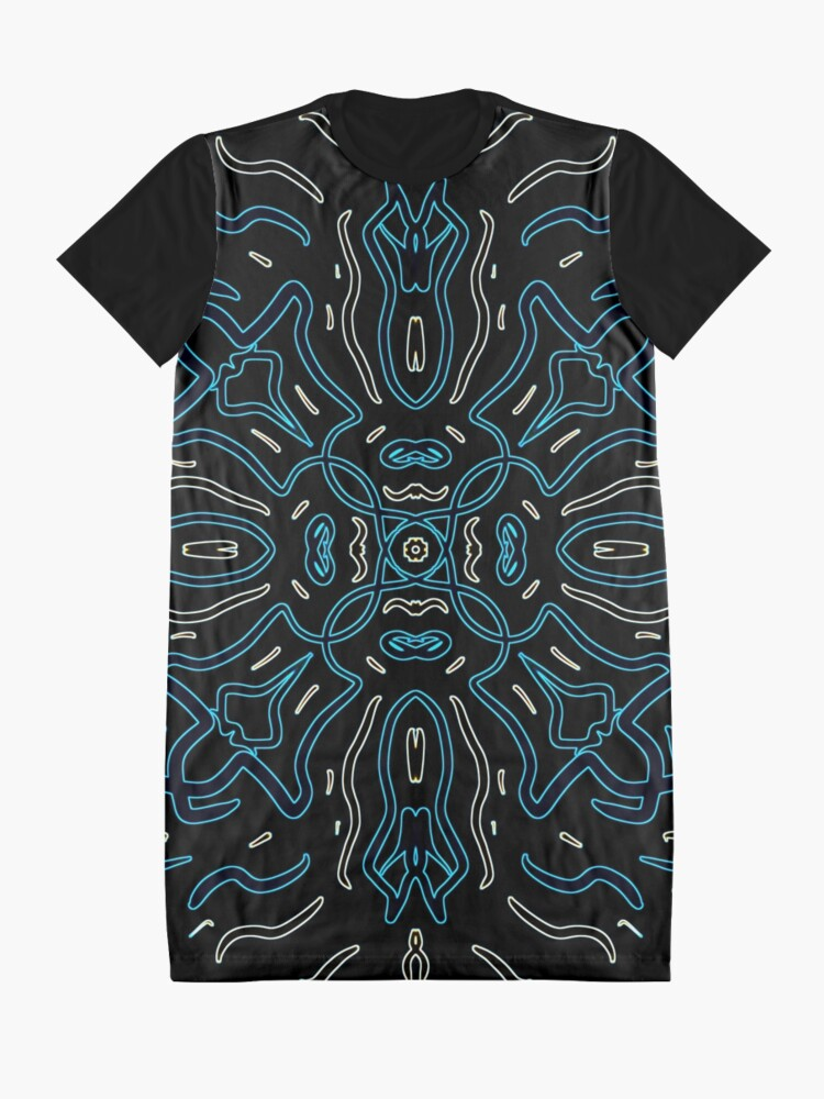 Alternate view of Ethnic Outline Graphic T-Shirt Dress