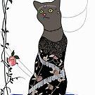 Gloria, Art Deco Cat by sneercampaign