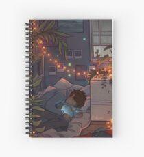 Blue Lips Spiral Notebook