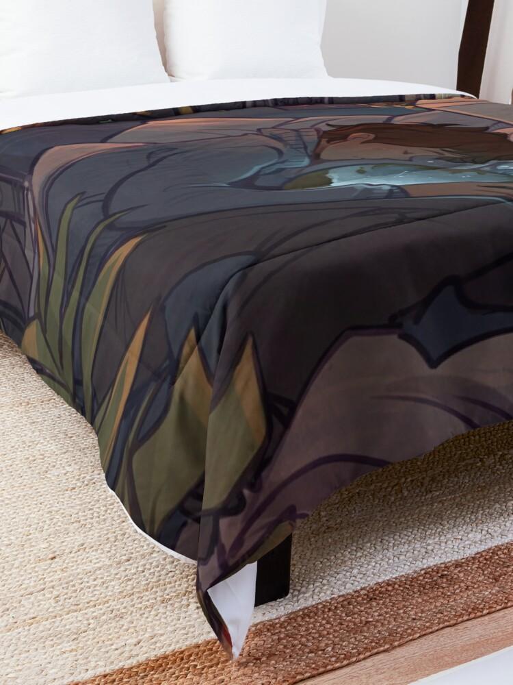 Alternate view of Blue Lips Comforter