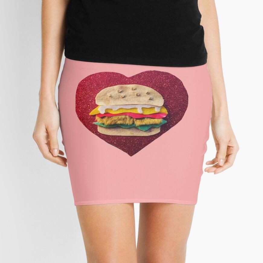 Fur Burger Mini Skirt