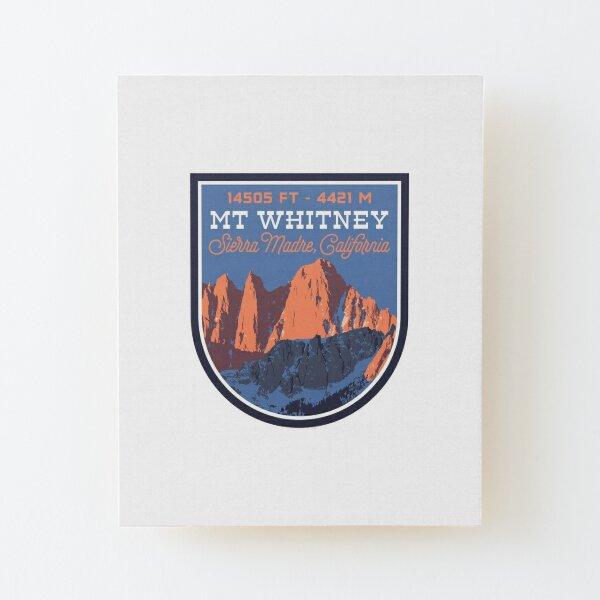 Mount Whitney Wood Mounted Print