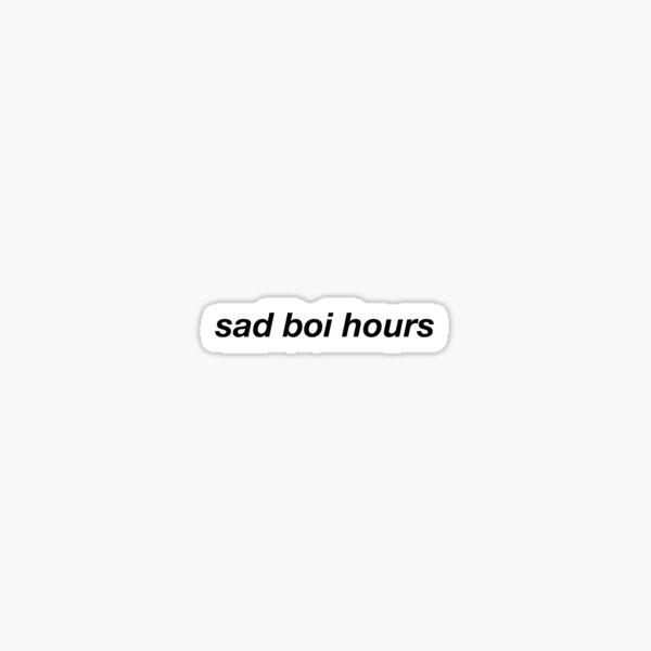sad boi hours Sticker