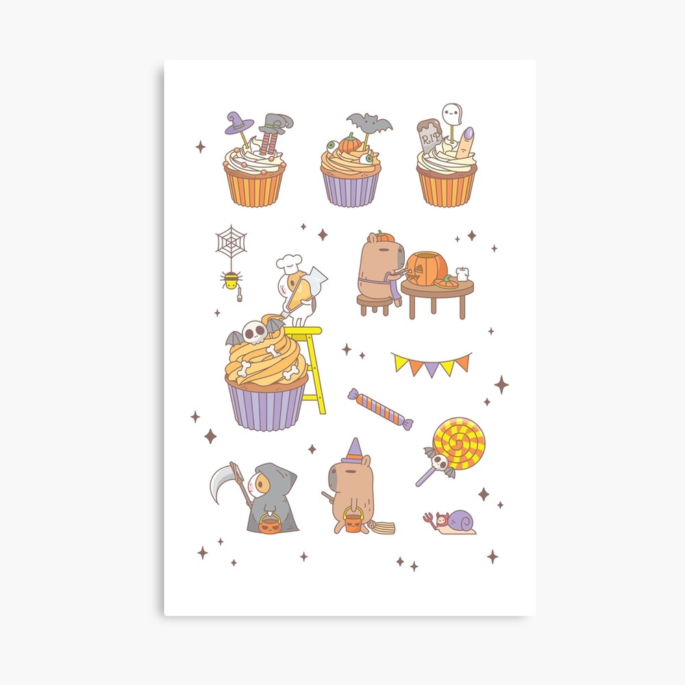 Bubu the Guinea Pig, Halloween Party  Canvas Print