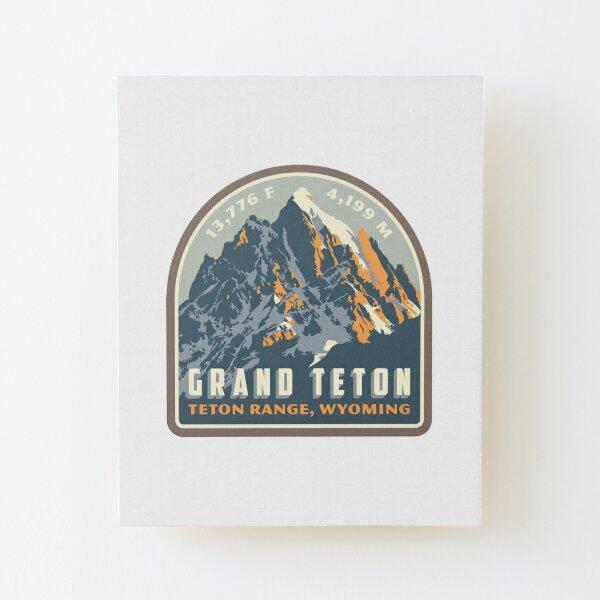 Grand Teton Wood Mounted Print