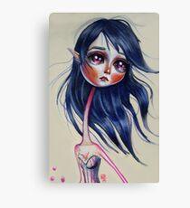 Elfling Study :: Cobalt Canvas Print