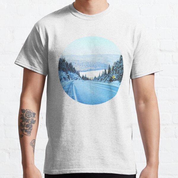 Looking Back. Winter Landscape Photograph  Classic T-Shirt