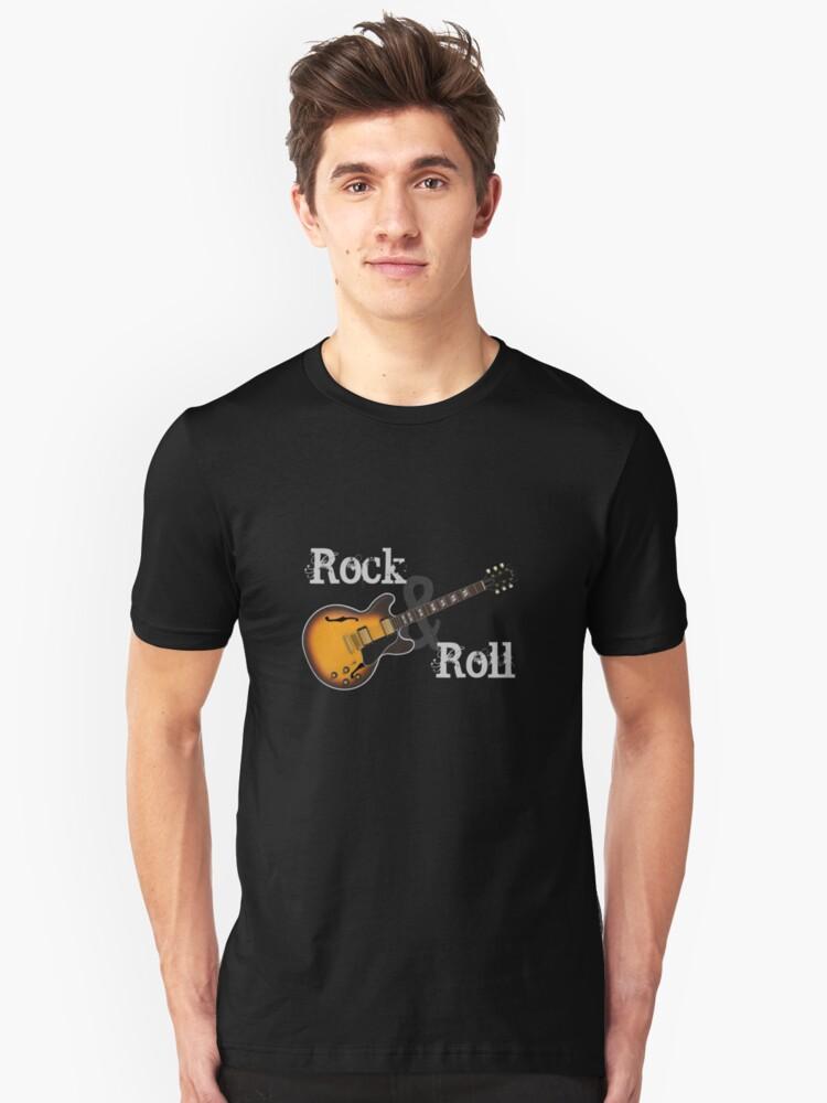 Rock & Roll Guitar Unisex T-Shirt Front
