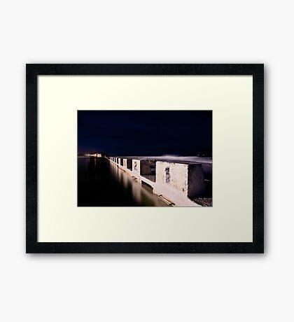 Merewether Blocks by Night Framed Print