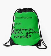 Burdened With Glorious Purpose Drawstring Bag