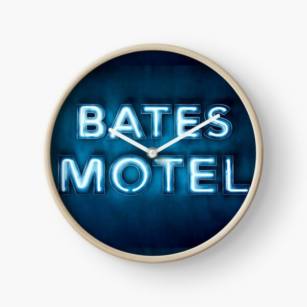 Bates Motel Sign Clock