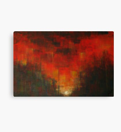 Sunset in Red Canvas Print