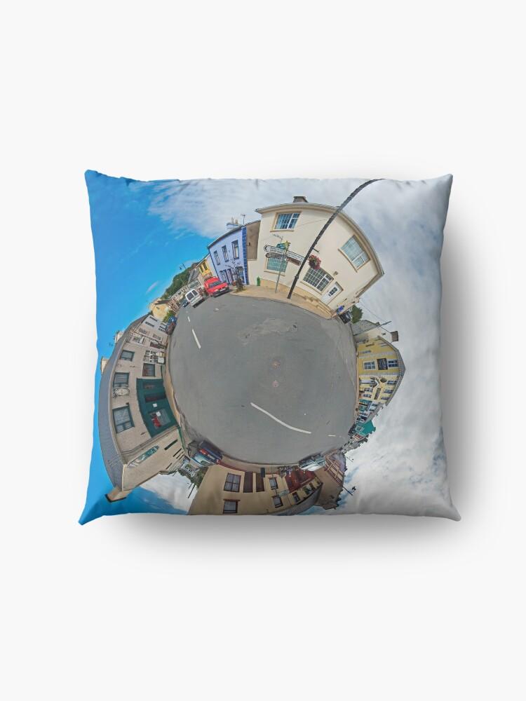 Alternate view of Kilcar Main Street - Sky Out Floor Pillow
