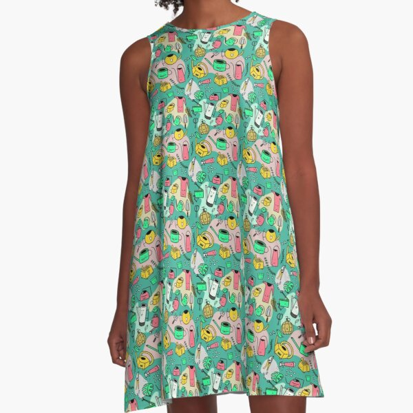 Watering Cans A-Line Dress