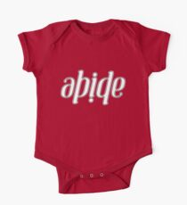 Abide Ambigram Kids Clothes