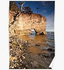 Fossil Cove, Tinderbox, Tasmania Poster