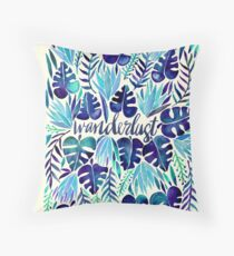 Tropical Wanderlust – Blue Throw Pillow
