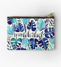 Tropical Wanderlust – Blue Studio Pouch