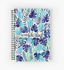 Tropical Wanderlust – Blue Spiral Notebook