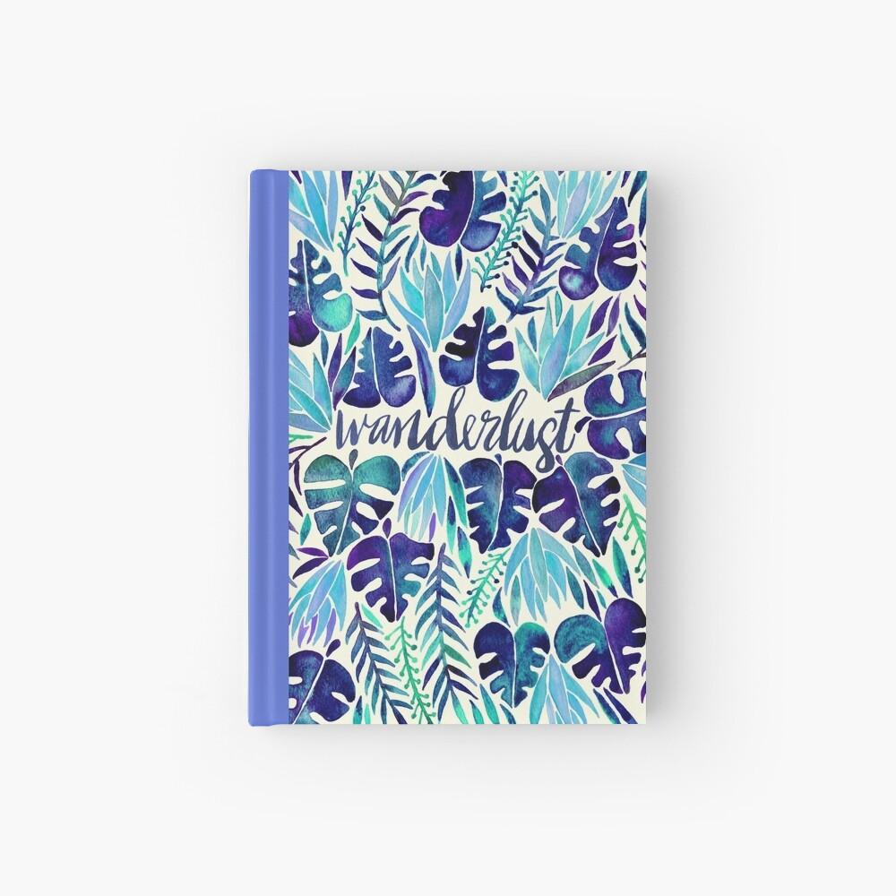 Tropisches Wanderlust - Blau Notizbuch