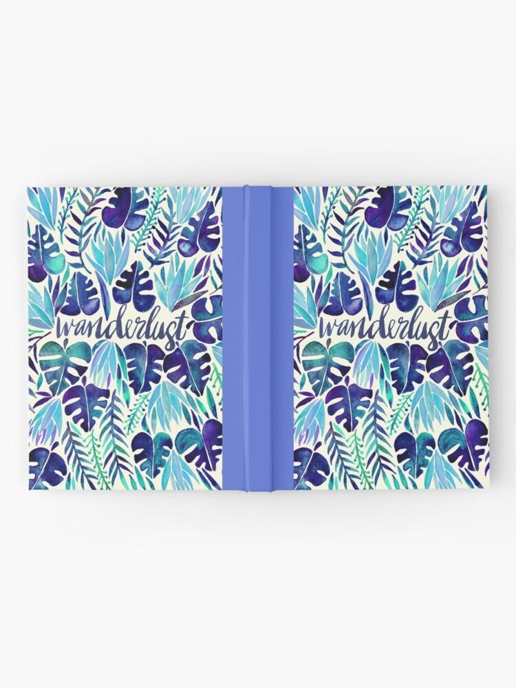 Alternative Ansicht von Tropisches Wanderlust - Blau Notizbuch