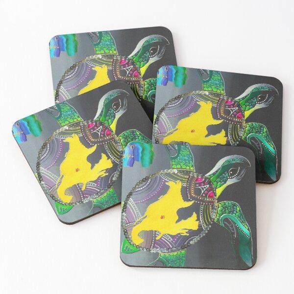 Miskinahk ministik- Turtle island Coasters (Set of 4)