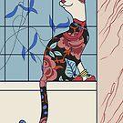 Marjorie, Art Deco Cat by sneercampaign