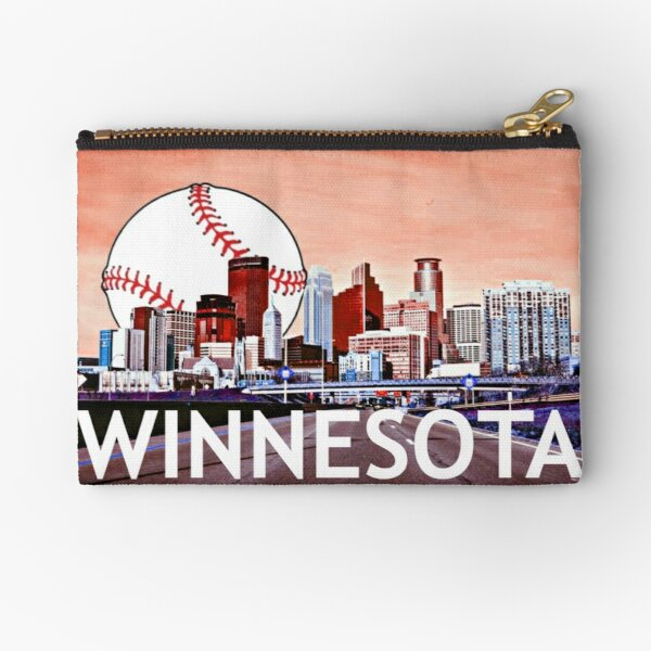 Winnesota Minneapolis Skyline Zipper Pouch