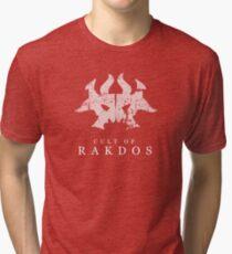 A Black Red Mask Tri-blend T-Shirt