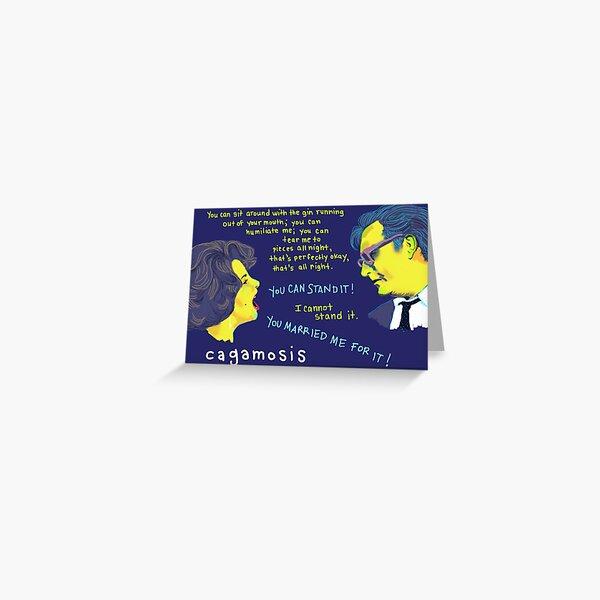 Cagamosis - Elizabeth Taylor and Richard Burton Greeting Card