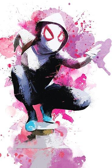 Quot Spider Gwen Splatter Art Quot Poster By Messyheroics