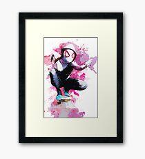 Spider-Gwen - Splatter Art Framed Print