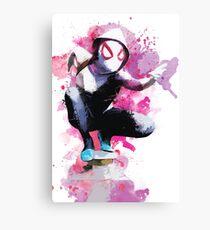 Spider-Gwen - Splatter Art Canvas Print