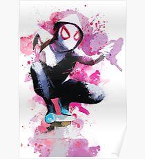 Spider-Gwen - Splatter Art Poster