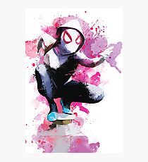 Spider-Gwen - Splatter Art Photographic Print
