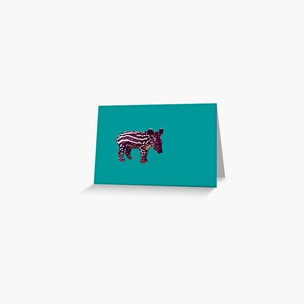 Baby Tapir Greeting Card