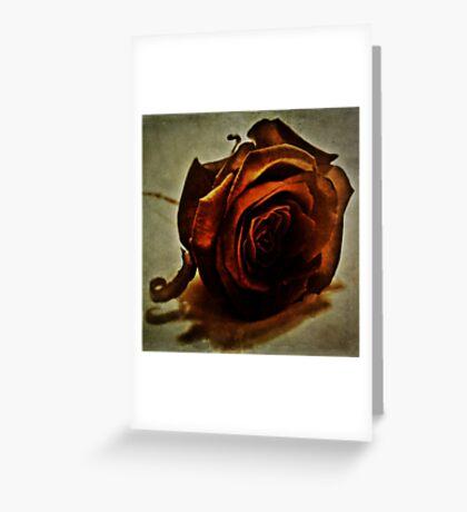Copper Rose Greeting Card