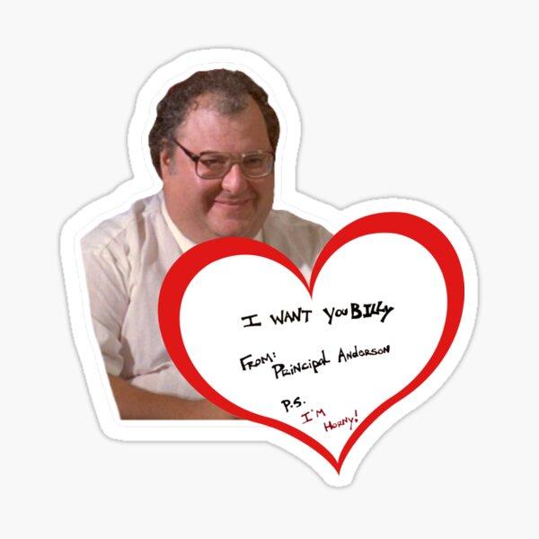 Billy Madison Principal Note Sticker